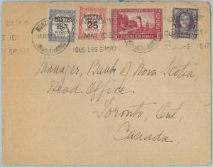 77555 - MONACO - Postal History - HOTEL Advertising COVER to CANADA  1938