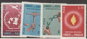 PARAGUAY #565-8 MINT NEVER HINGED COMPLETE