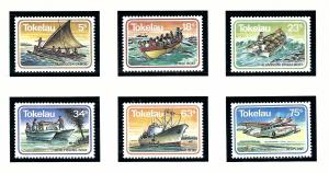 Tokelau Is 91-96 MNH 1983 Boats and Planes