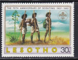 Lesotho # 358, Scouting 75th Anniversary, NH,