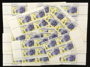 1556    Space   Pioneer-Jupiter    25  MNH  10 cent. plate blocks   Issued  1975