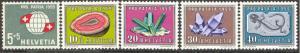 Switzerland # B282-86  Pro-Patria 1959 - Minerals (5) MNH