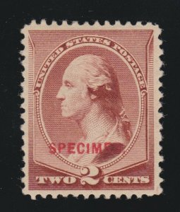 US 210SD 2c Washington Mint Specimen VF OG H SCV $100