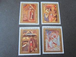 Dahomey 1972 Sc C176-9 Christmas Religion set MNH