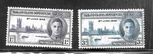 Falkland Islands 1946 SC# 97-98