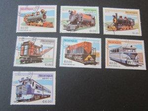 Nicaragua 1981 Sc 1133-8,C990 Train set CTO MNH