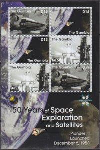 2008 Gambia 5958-60KL Satellite Pioneer III 8,00 €
