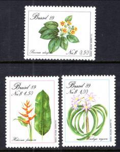 Brazil MNH 2168-70 Flowering Plants 1989