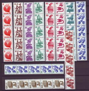 Z487 Jlstamps 1971-3 berlin germany set mh top stamp strip/5 coils #9n316-25