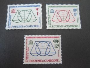 Cambodia 1963 Sc 126-8 set MNH