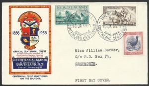 NEW ZEALAND 1956 Southland commem FDC - special cancel.....................49191