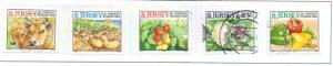 Jersey  Sc 981a-e 2001 Agricultural Products stamp set used