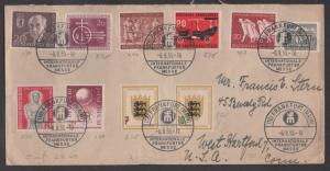 **Germany Cover SC# 728-33 + Berlin 9N104, 107, 112 To USA