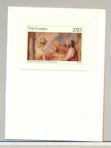 Gambia #1724 Art, Rubens 1v S/S Imperf Chromalin Proof Mounted in Folder