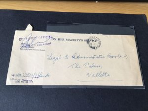 O.H.M.S. Field  post office 1959 certified official Malta  cover  Ref R28805