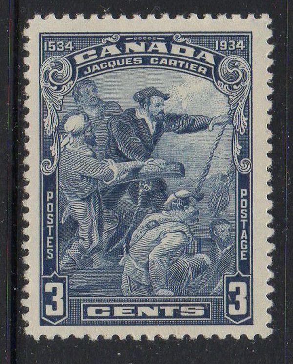 Canada Sc 208 1934 3c Jacques Cartier stamp mint