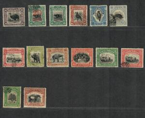 North Borneo Sc#136-149 M+U/F-VF, Part Set, 139-143 Postally Used, Cv. $203.90