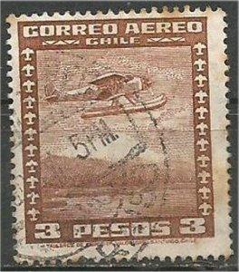 CHILE, 1935  used 3p ,Airplane Scott C41