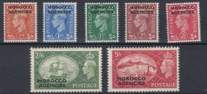 MOROCCO AGENCIES     1951  SET OF 7   LMH  CAT £32