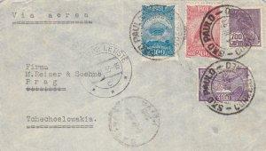1933, Sao Paulo, Brazil to Prague, Czechoslovakia, Airmail, See Remark (32204)