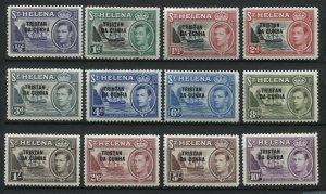 Tristan Da Cunha KGVI 1952 complete set mint o.g. hinged