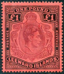 HERRICKSTAMP LEEWARD ISLANDS Sc.# 115b Mint LH Scott Retail $55.00