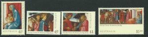 AUSTRALIA SG1487/90 1994 CHRISTMAS MNH