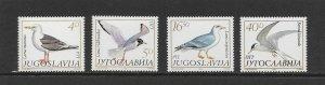 BIRDS - YUGOSLAVIA #1687-90 MNH
