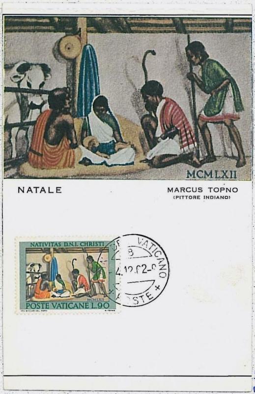 MAXIMUM CARD : Art  RELIGION  Paintings - VATICAN Vaticano 1962  #3