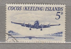 COCOS KEELING ISLANDS Airplane 5d Used(o) #HS340