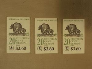 USPS Scott 1880-89 18c Lot Of 3 Books American Wildlife 5...