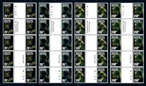 [95199] Netherlands Antilles 2002 Art Van Gogh GP Strip of 5 Diff. Labels MNH