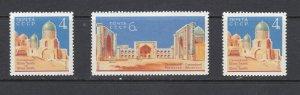 RUSSIA - 1963 ARCHITECTURE IN SAMARKAND - SCOTT 2808 TO 2810 - MNH