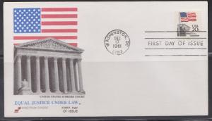 1894 Flag over Supreme Court Unaddressed Spectrum FDC