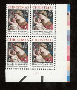 2871 Madonna & Child Plate Block (Dull Gum) Mint/nh Free Shipping
