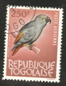 TOGO Scott C39 used CTO Bird stamp 1964-5