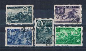 Russia 947-51 Used set War heros 1944 (R0514)