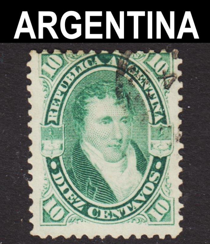 Argentina Scott 18A Fine used.