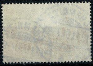 GERMANY 1889-1900 3m VIOLET-BLACK REICHSPOST PMK.CHEMNITZ SG 64 USED P.14.5 VGC