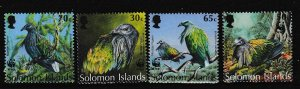 Solomon Islands - WWF - BIRDS - Set - MNH