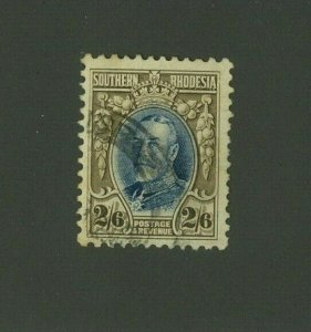 Southern Rhodesia 1931 2sh6p George V Scott 29a used, Value = $37.50