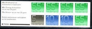 Netherlands Scott # 536g, mint nh, cpl. stamp booklet, variation, se-tenant