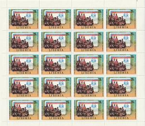 #858 Liberia Mint OGNH sheet of 25 with margins