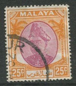 STAMP STATION PERTH Selangor #89 Sultan Hisam-ud-Din Alam Shah Used 1949