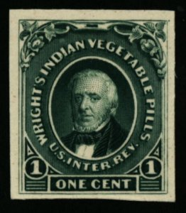 US RS274P4 Wright's Indian Vegetable Pills M&M Revenue Proof on Card