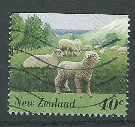 New Zealand SG 1894  VFU ex booklet top margin imperf