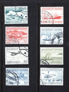 Greenland 78-85,  Complete Set, VF, Used, CV $3.60 ...2510033