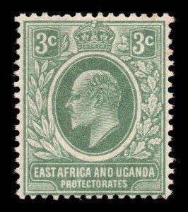 East Africa Uganda 1907 EDVII 3c SG 35 mint CV £21