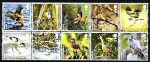Great Britain 2007 Endangered Species - Birds se-tenant p...