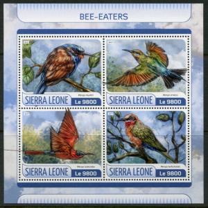 SIERRA LEONE  2017  BEE-EASTERS  SHEET MINT NEVER HINGED